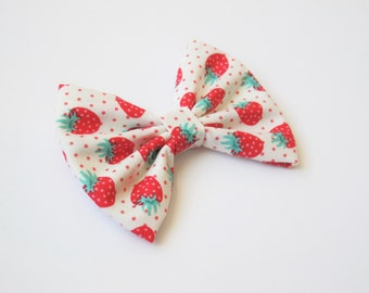 Strawberry Hair Bow | Nylon Headband | Baby Hairbow | Baby Headband
