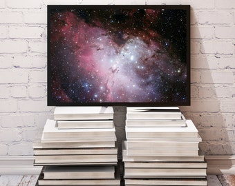 Eagle Nebula poster Galaxy decor Space print