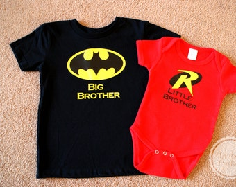 Batman & Robin Big Brother and Little Brother T-Shirt Set