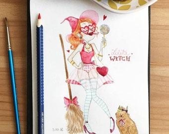 The Lolita Witch - Original illustration