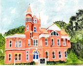 note cards, greeting cards, thank you cards, Ventress Hall, Ole Miss, Oxford MS, University of MS, Oxford paintings, Ole Miss paintings, art