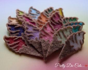 Felt Ice-Cream Cones, Die Cut Craft Embellishments