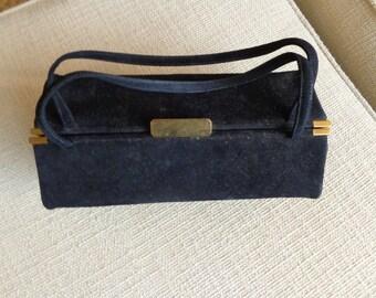 Black Velvet Handbag purse