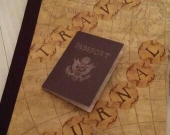 Travel Journal, Notebook, Journal,Diary,Memory Book, Handmade,Writing Journal,Blank Book