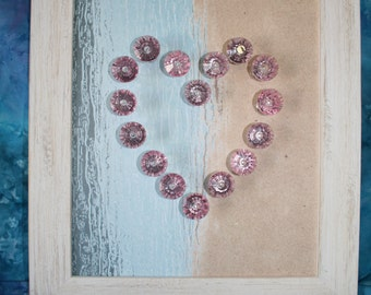 Valentines Gift - Heart & Knobs Wall Hanging