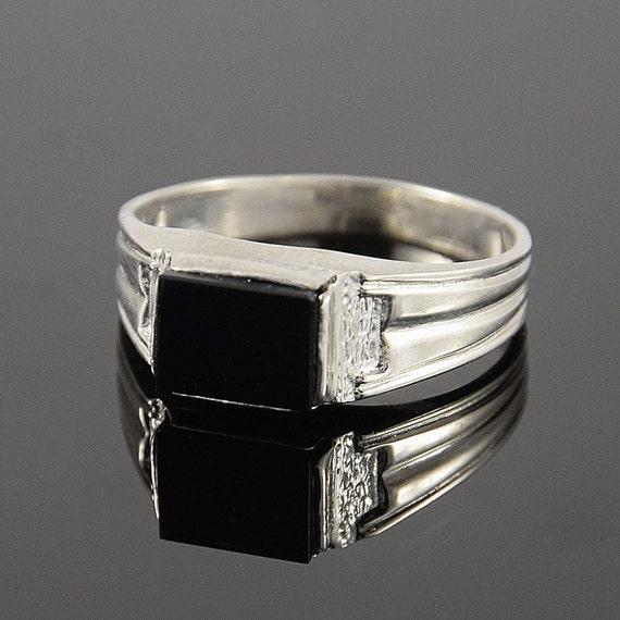 onyx silver ring black onyx ring onyx signet ring
