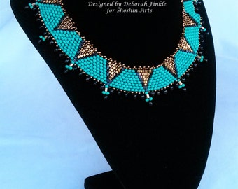 Peyote Triangle Collar Necklace Tutorial