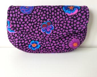 Purple clutch, Floral clutch, Wedding clutch, Small clutch, Purple purse, Floral purse, Wedding purse, Fabric clutch