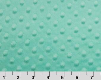 SALE!  Opal/Mint Aqua Minky Fabric by the yard by Shannon Fabrics