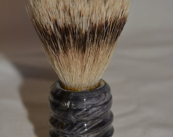 Beautiful Handmade Dyed Box Elder Burl Shaving Brush