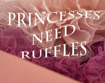 Digital Download Print Printable Art Instant Download Digital Wall Art Baby Nursery Decor Baby Girl Princess Ruffles Print Download 8x12