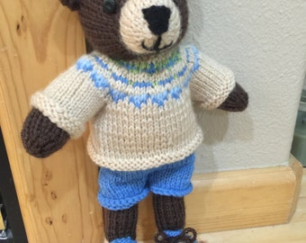 Hand knitted bear