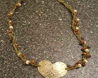 Handmade heart necklace