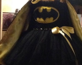 Bat Girl Tutu Dress, Super Hero Tutu, bat Girl Costume