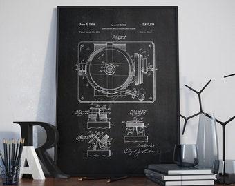 Record Player Patent, Wall Art Print, Record Player Patent Art, Record Player Wall Art, Patent Prints - DA0274