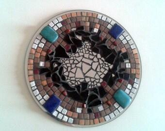 """Mural creation in mosaic """"VIBRATION"""" - Mosaic Wall creation - diam. 25 cm"""