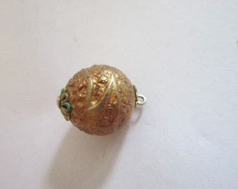 Antique Victorian Fancy Gold Ball Pendant