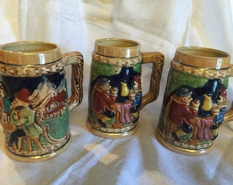 Set of 3 beer steins