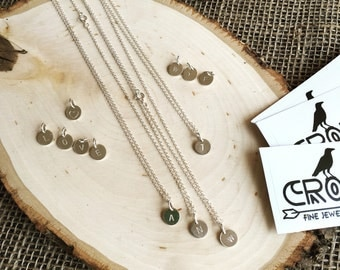 Personalized Sterling Silver Initial Necklace