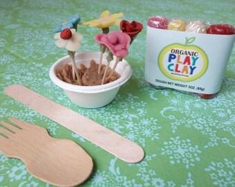 Organic Play Clay Kit -- Flower Garden