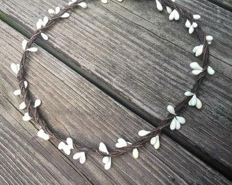 Plain Flower Crown Halo // Bridesmaid Hair Piece