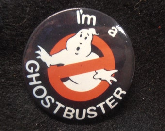 Vintage 'I'm A Ghostbuster' Ghostbusters Pinback Button