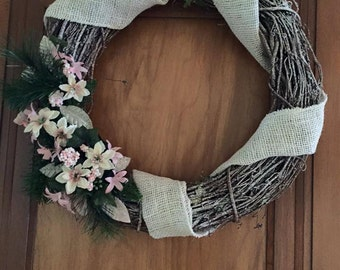 Winter  christmas wreath