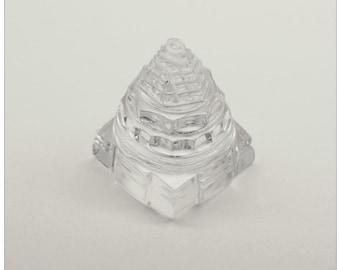 Ice-Like Super Fine Rock Crystal Sri Yantra