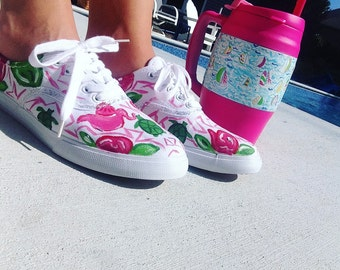 Delta Zeta Lilly Pulitzer Inspired Shoes