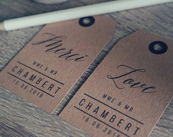 30 labels to customize (Mrs & Mr + date)