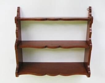 Wood Wall Shelf 3 Tier Knick Nack Shelf