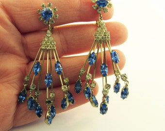 Vendome Silver and Ice Chandelier Dangle Earrings