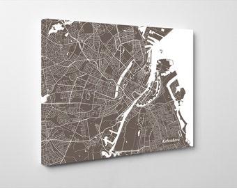 Copenhagen Street Map Print Map of Copenhagen City Street Map Denmark Poster Wall Art 7116L