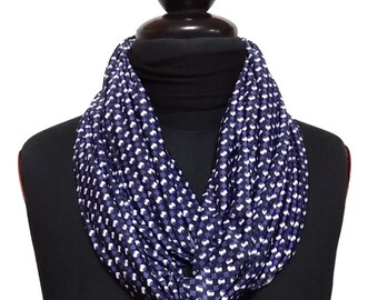 Infinity Nursing Scarf Blue and White