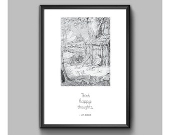 Digital Print - Peter Pan - Happy Thoughts