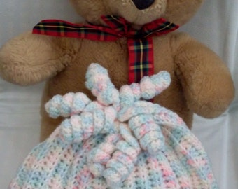 Crocheted Child's Hat in Pastel Colours.  UK Seller!