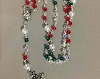 Red, White, Green (Mexican) Rosary