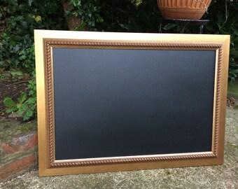 Bronze chalkboard blackboard menu bronze seat plan