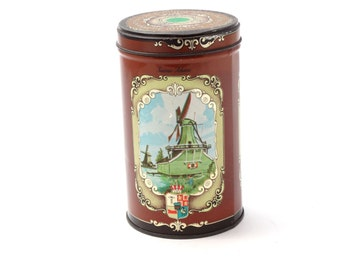 Vintage Tin - Cookie Tin Box - Vintage Tin by Albert Heijn Koeken - Dutch cookie canister -  Zaanse Schans -  Collectible Cookie Tin