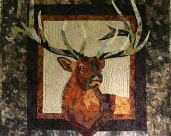 "Elk wall hanging 33.25""X32"""