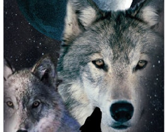 30x60 Night Wolves Beach Towel