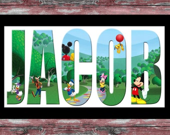 Mickey Mouse club house name plaque