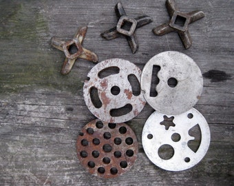 the kit of parts of parts of meat Grinder/ meat Grinder/ disc attachment replacement part/ Made in Soviet era