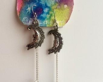 Aura Moon Dangles