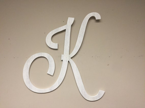 Large Decorative Wooden Letters: Extra Large Letter K Home Wall Decor Wall Hanging Wall