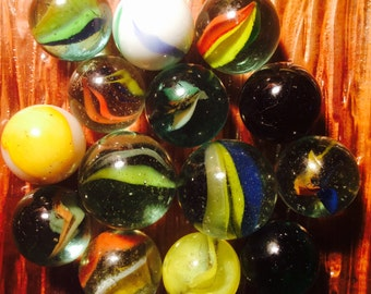 14 Antique Collectable Marbles Lot # 9