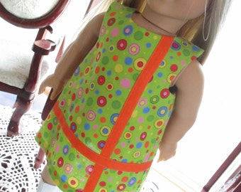 """Mod 60's Doll Dress for Summer to fit your 18"""" American Girl Doll"""