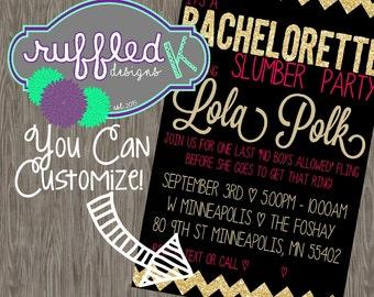 Bachelorette Slumber Party Invitations