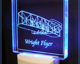 Military Night Light, Wright Brothers Night Light, Space Shuttle Night Light, Apache Night Light