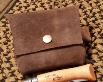 Small Leather Suede Belt Pouch (Altoid Tin Pouch)